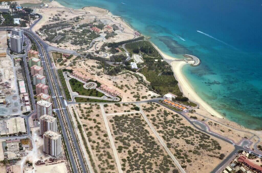 تصویر هوایی از جزیره زیبای کیش در هرمزگان