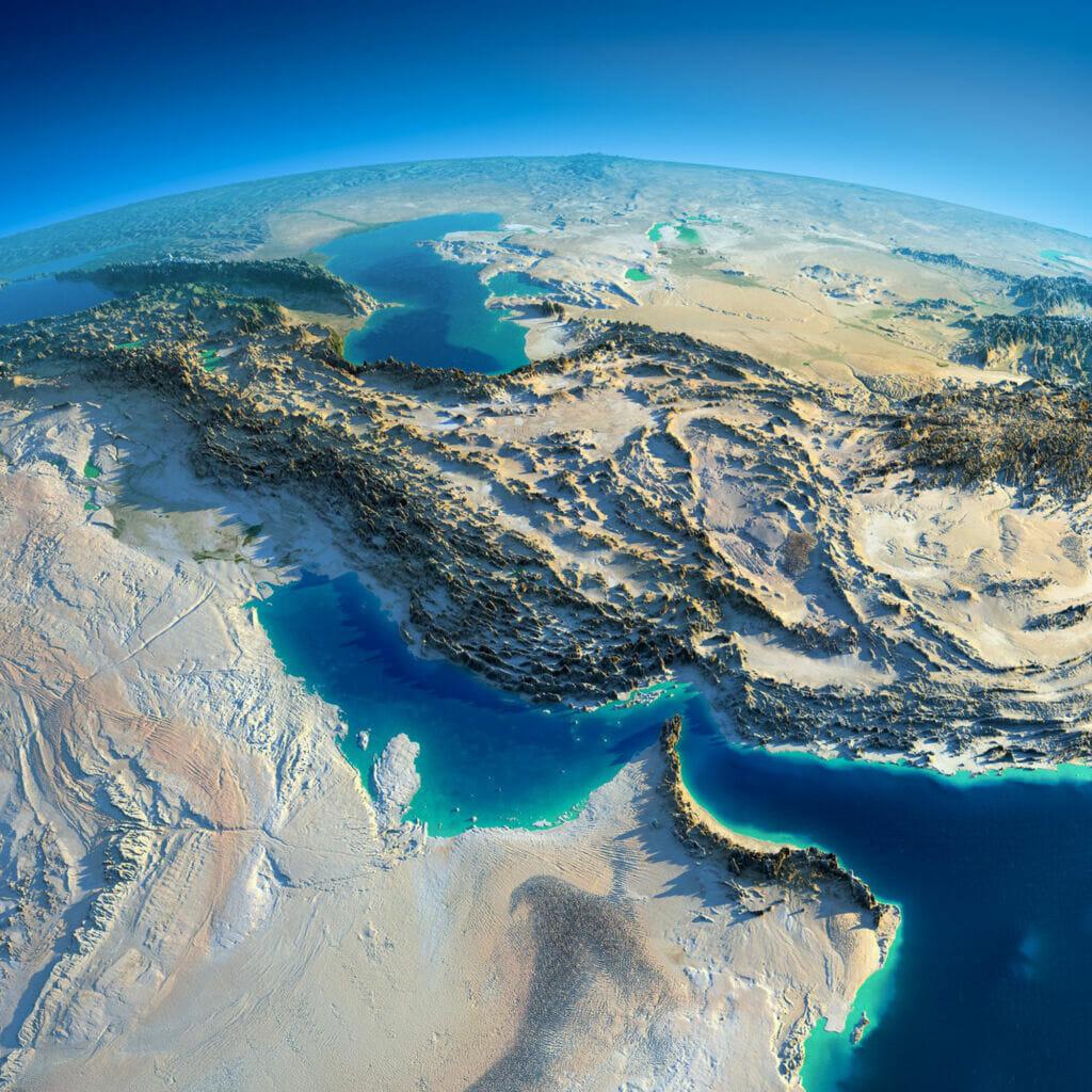 تصویر و نقشه هوایی و ماهوارهای از ایران