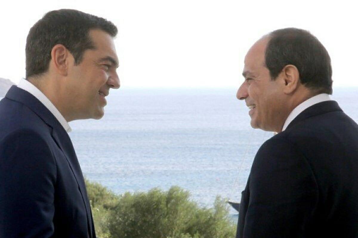 رؤسای جمهور مصر و یونان در حال مذاکره در خصوص دریای مدیترانه