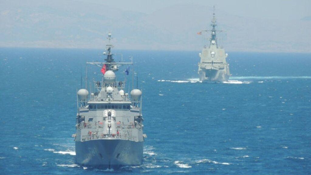 رزمایش دریایی امارات و یونان در دریای مدیترانه