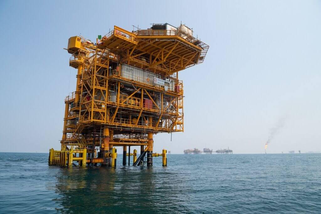 سکوی S1 میدان مشترک سلمان در آبهای خلیج فارس