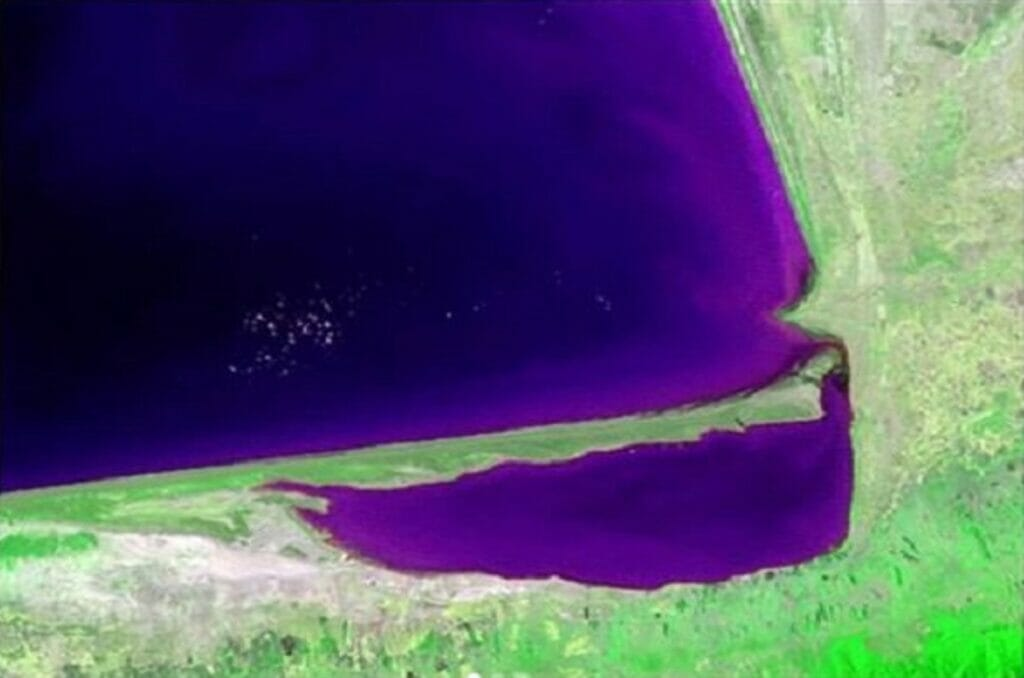 عکس ماهوارهای خلیج گرگان از فضا