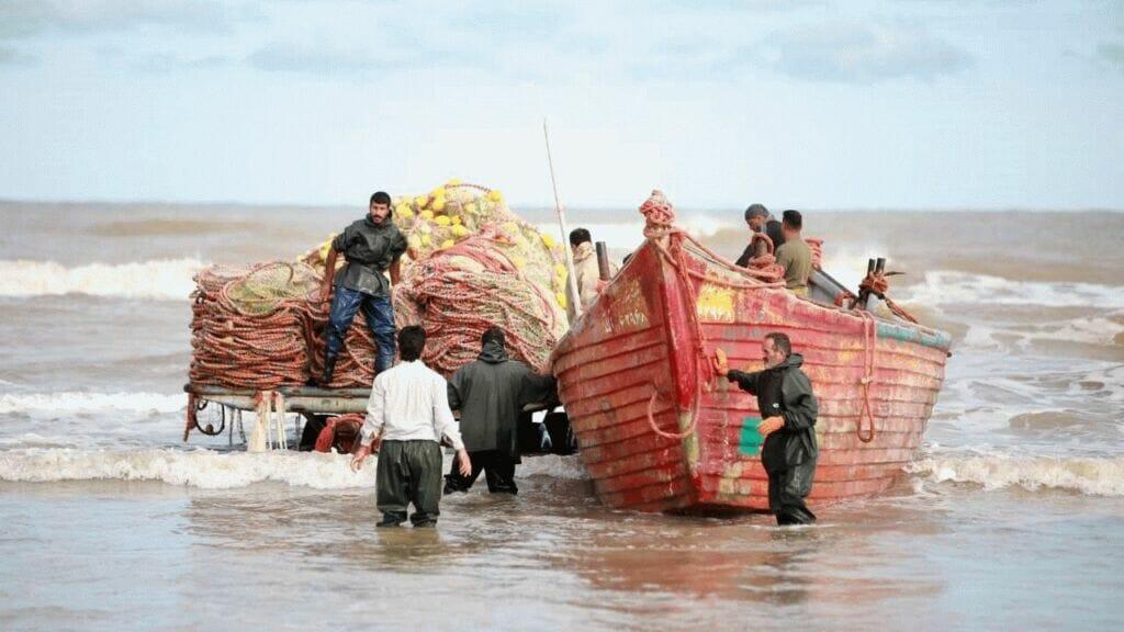 قایقهای صیادی صیادان شمال دریای کاسپین