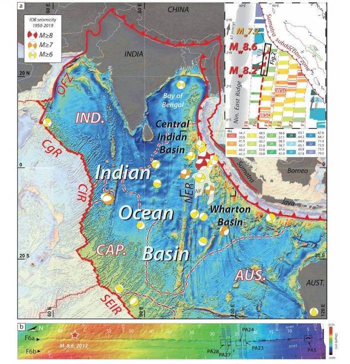 نقشهی حوزهی وارتون اقیانوس هند