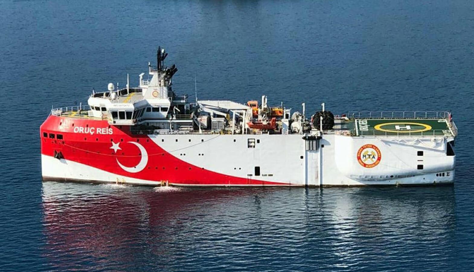 کشتی تحقیقاتی oruc reis ترکیه