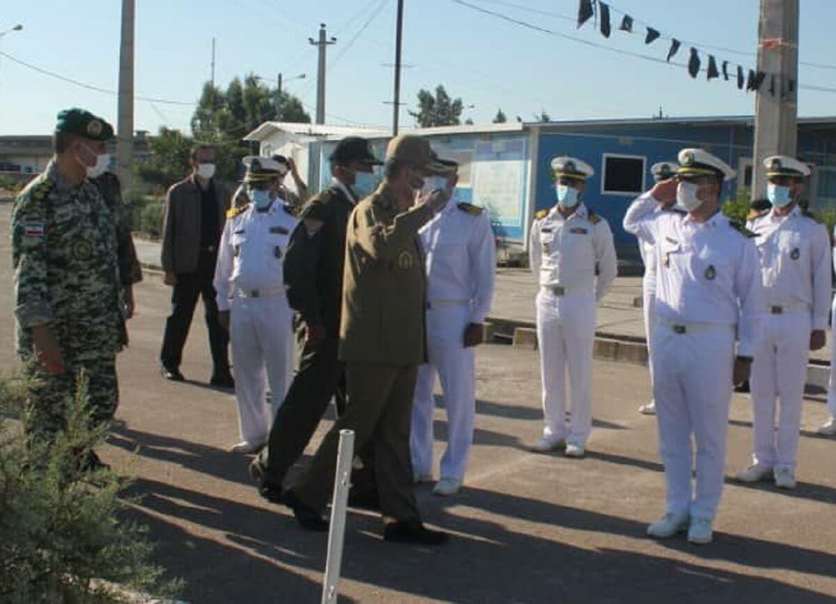 بازدید فرمانده کل ارتش از پایگاه دریایی شرق کاسپین