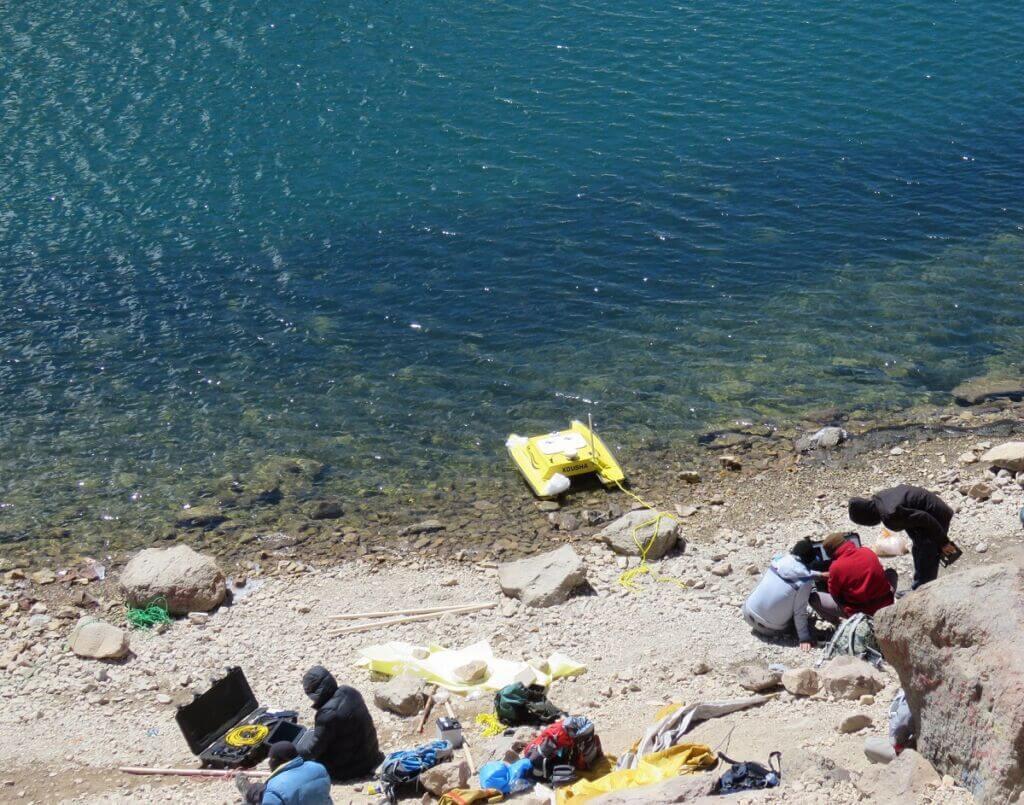 تهیه نقشه سه بعدی از دریاچه سبلان با شناور بدون سرنشین