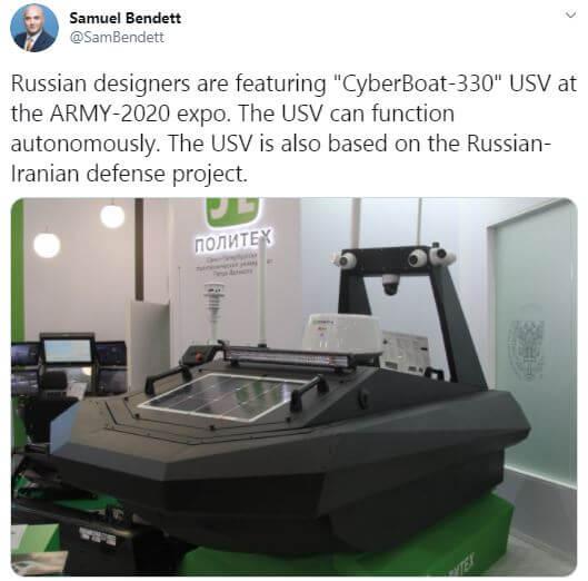 خبر ساخت قایق بدون سرنشین ایران و روسیه در توییتر