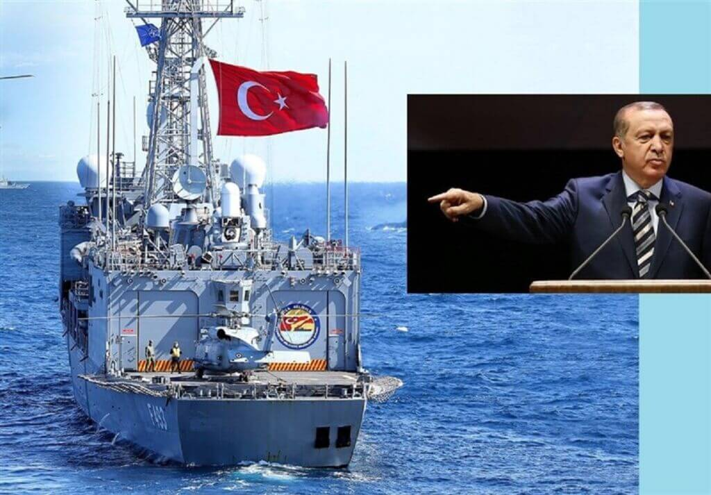 دستور اردوغان برای حضور نیروی دریایی ترکیه در دریای مدیترانه