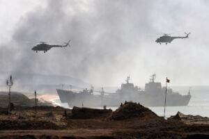 رزمایش دریایی قفقاز نیروی دریایی روسیه در دریای کاسپین