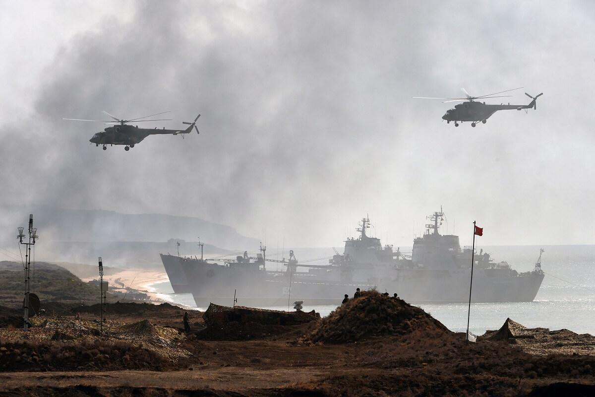 حضور بیش از ۲۰ ناو در رزمایش دریایی روسیه