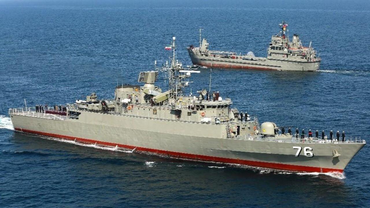 حضور شصت و نهمین ناوگروه نیروی دریایی ارتش در دریای دور