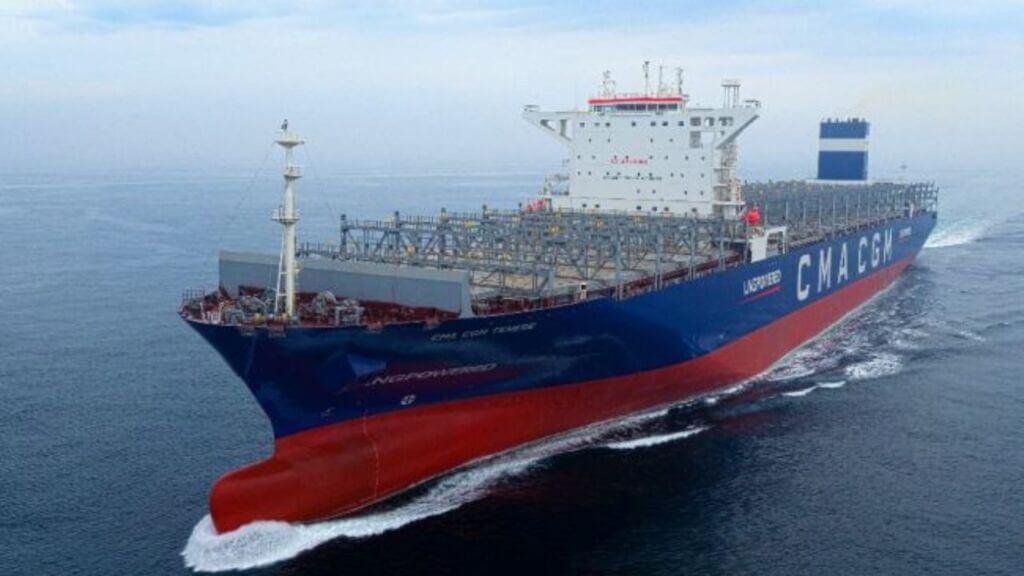 نخستین کشتی کانتینربر lng سوز CMA CGM Tenere