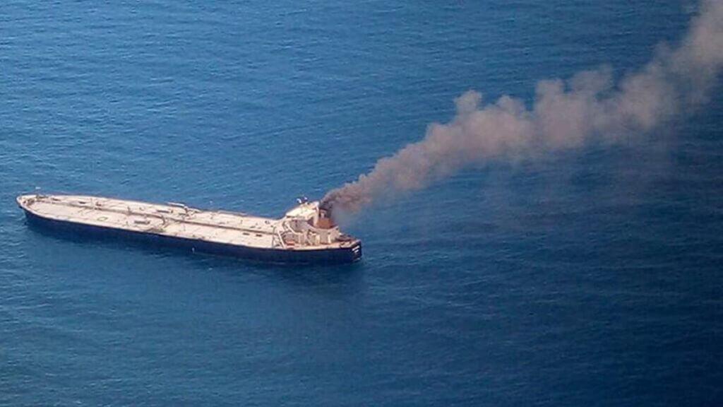 نفتکش هندی الماس جدید در آتش و انفجار - MT NewDiamond ship tanker