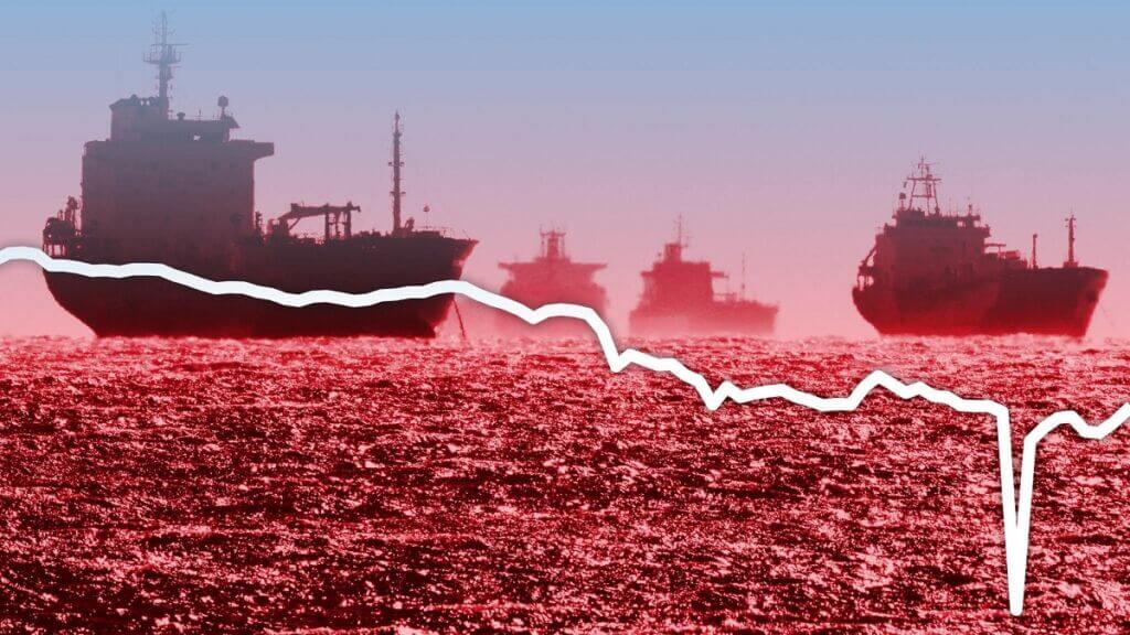 نمودار قیمت نفت در حمل مشتقات نفتی کشتیهای نفتکش