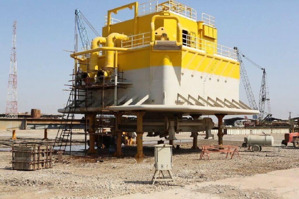 گوی شناور بخش زودهنگام طرح پایانه نفتی جاسک