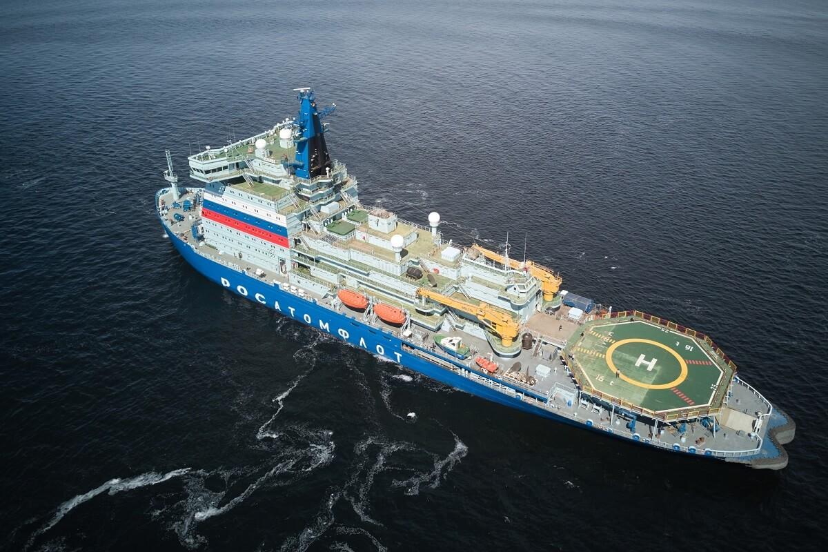 بزرگترین و قدرتمندترین کشتی یخشکن اتمی جهان در روسیه مجوز گرفت