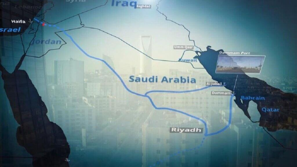 اتصال خلیجفارس به مدیترانه از طریق پروژه ریلی امارات عربستان اسرائیل