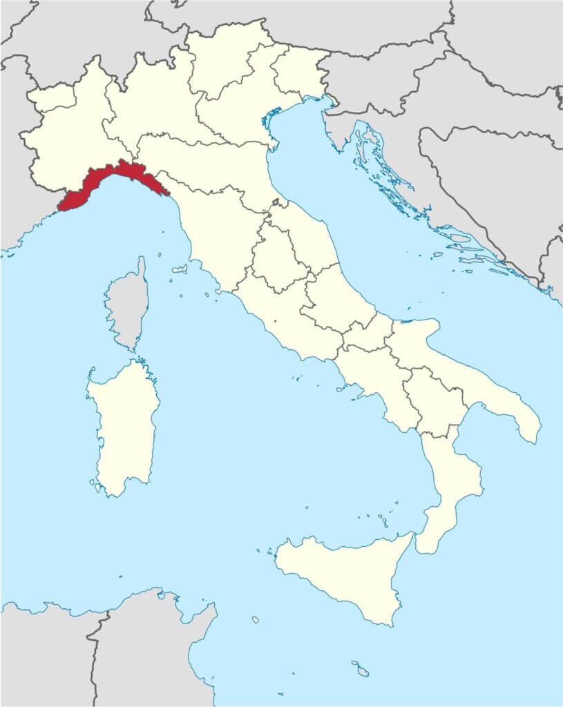 منطقه ساحلی لیگوریا ایتالیا-Liguria_in_Italy