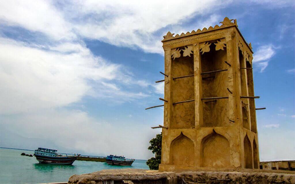 بادگیرهای بندر لافت در جزیره قشم