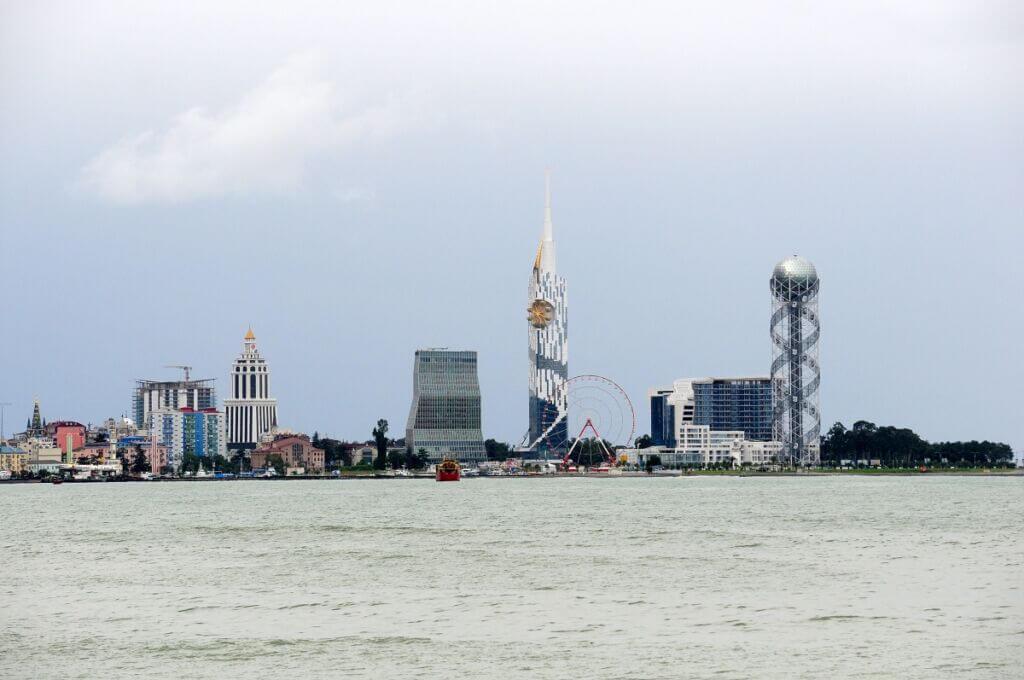 برجهای بندر باتومی گرجستان از دریا