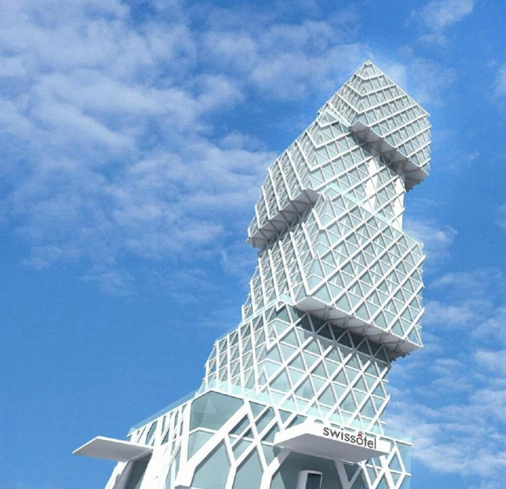 برج مکعب بندر باتومی گرجستان (Swissotel Cube Tower)