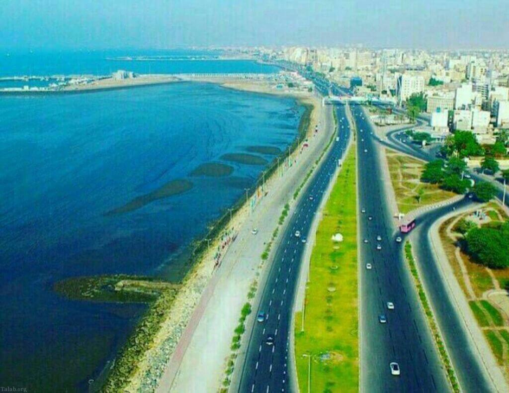 تصویر هوایی از بلوار ساحلی بندرعباس
