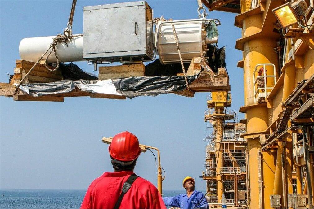 تعمیرات اساسی سکوهای دریایی گازی میدان پارس جنوبی