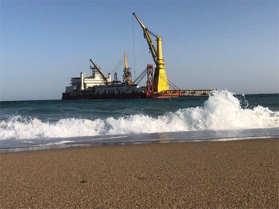 تکمیل عملیات اجرایی احداث خطلوله دریایی گاز جزیره کیش- بندر آفتاب