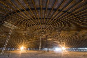 ساخت سقف گنبدی تانک ذخیره ال ان جی