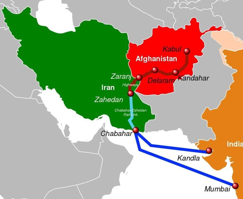 مسیر دریایی بندر کاندلا و بمبئی و چابهار به افغانستان
