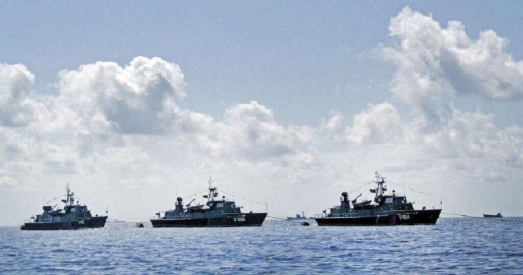 ناوچههای نیروی دریایی آذربایجان در خلیج باکو