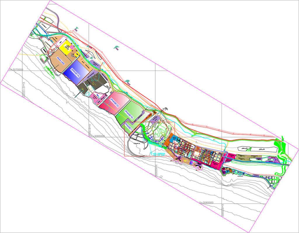 نقشه كلی محدوده پروژه كارخانههای ال ان جی ایران