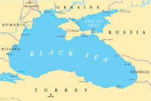 نقشه کشورهای حوزه دریای سیاه - black sea map