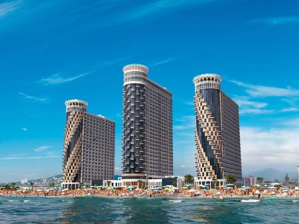 هتل برجهای سهگانه اربی بندر باتومی گرجستان (Orbi Sea Towers)