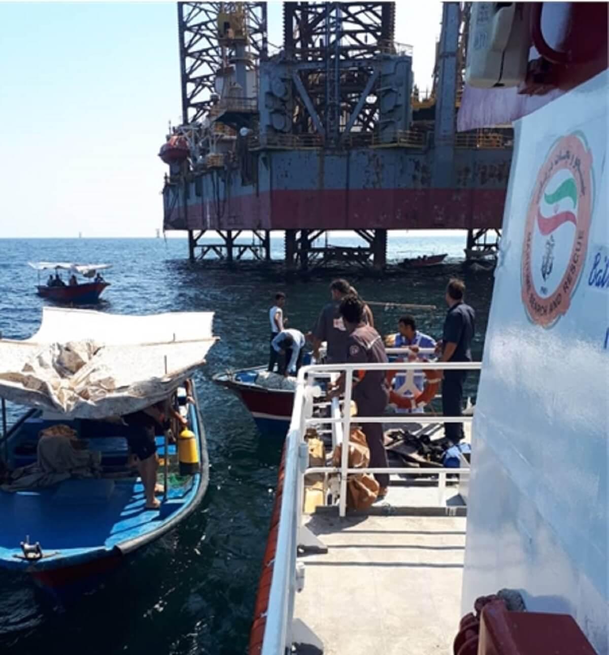 جسد غواص غرق شده در نزدیکی سکوی نفتی فروزان پیدا شد