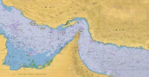 چارت دریایی خلیجفارس و دریای عمان