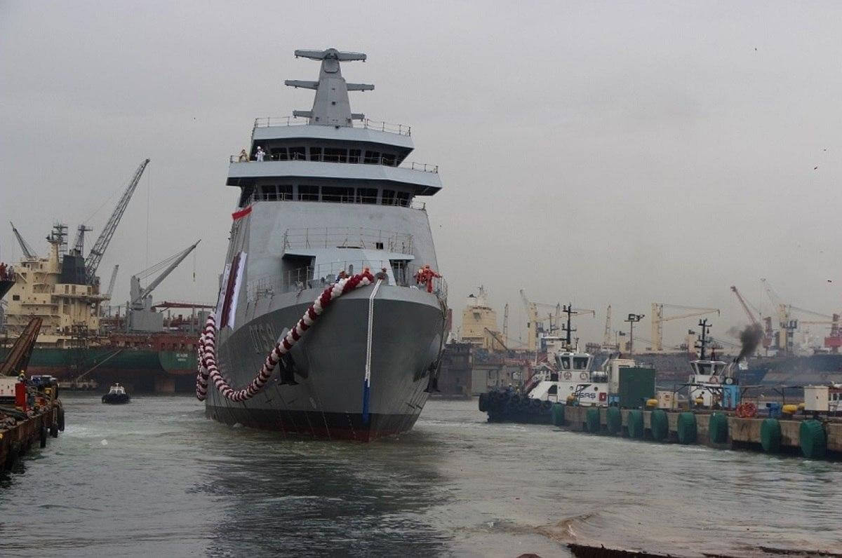 قطر کشتی جنگی «دوحه» را از ترکیه تحویل گرفت