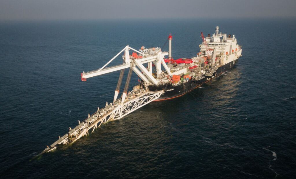 کشتی لولهگذار ALLSEAS در پروژه انتقال گاز نورد استریم 2