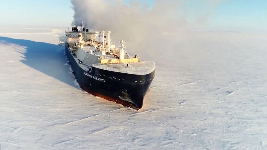 VLADIMIR RUSANOV LNG TANKER- کشتی حمل ال ان جی روسیه
