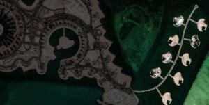 تصویر ماهواره ای از جزیره لولو (مروارید) دوحه قطر