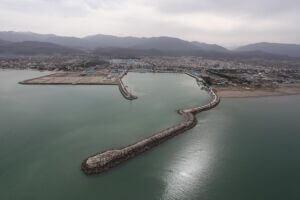 تصویر هوایی از بندر نوشهر مازندران