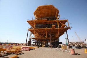 ساخت سکوی نفتی و گازی دریایی در ایزوایکو