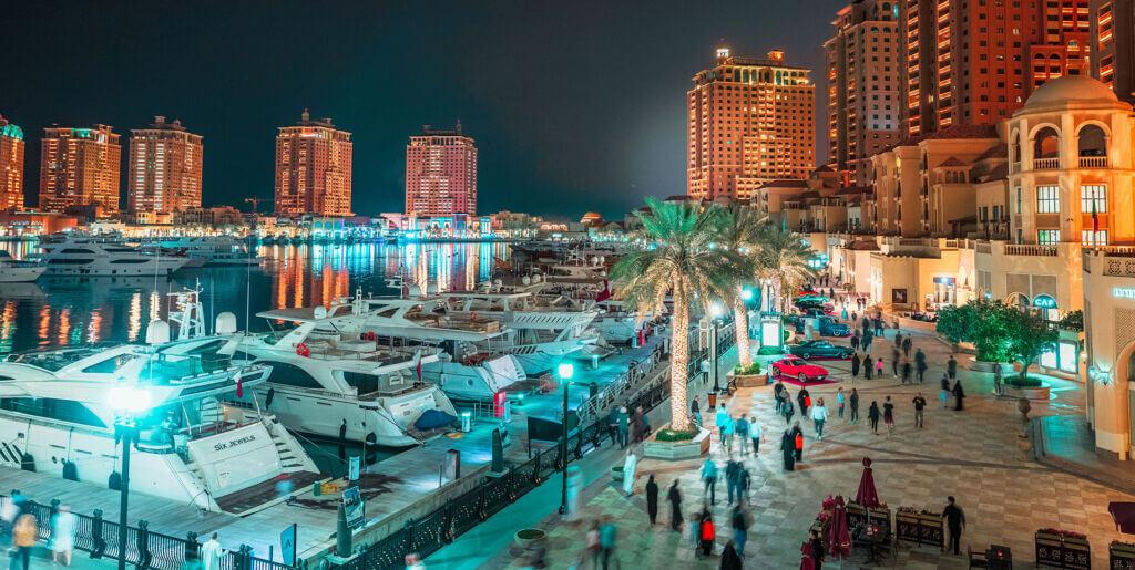مارینا و دریاچه جزیره لولو (مروارید) دوحه قطر