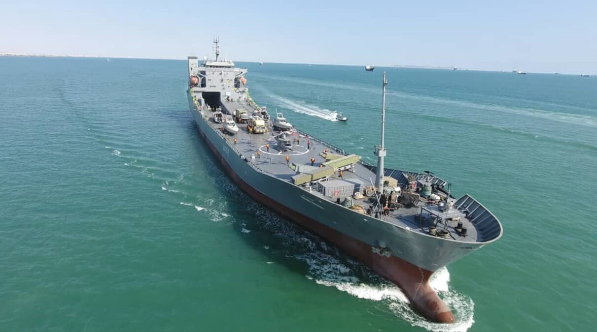 الحاق ناو اقیانوس پیمای شهید رودکی به نیروی دریایی سپاه+عکس