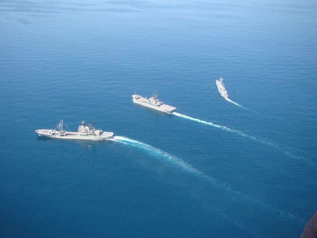 ناو الوند، ناو لارک و ناو بوشهر در مانور نظامی آسیا