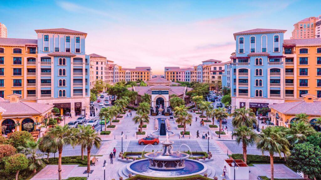 نمای داخلی ساختمانهای رنگی جزیره لولو (مروارید) دوحه قطر