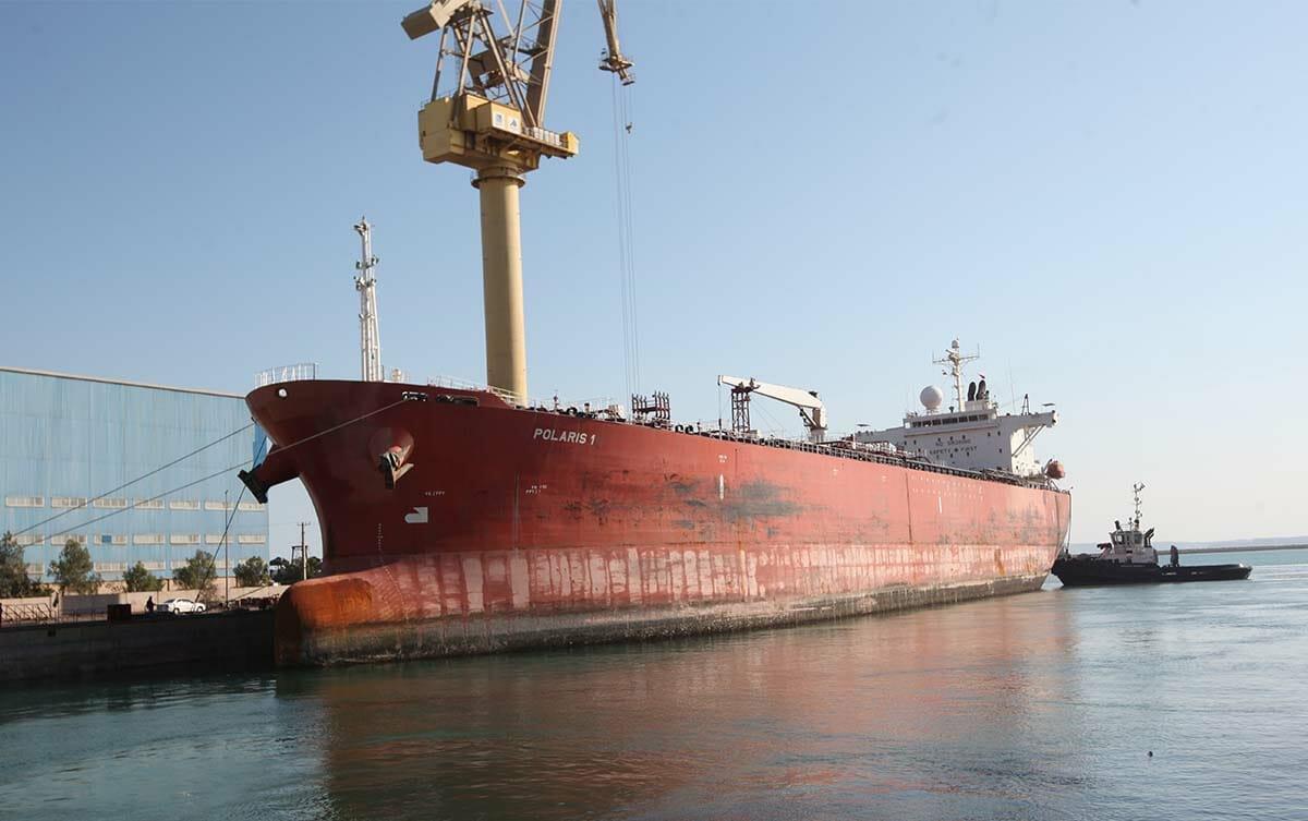ورود نفتکش Polaris به ایزوایکو جهت تعمیرات اساسی