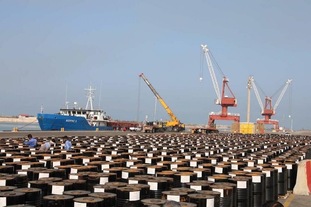 صادرات قیر از بندر امیرآباد به کشورهای CIS در دریای کاسپین