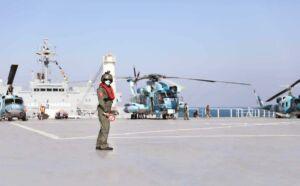 هلی پد (هد بالگرد) ناو بندر مکران نیروی دریایی ارتش